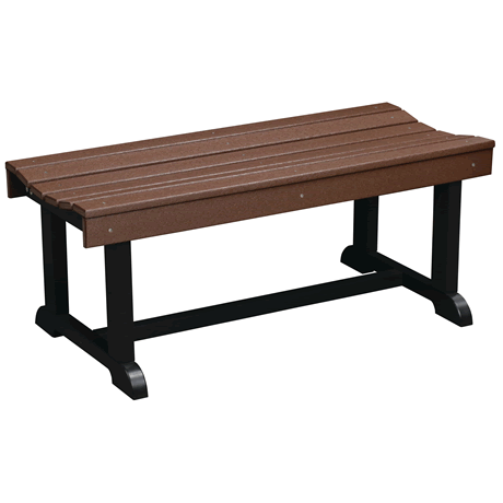 42 Inch Patio Bench - Tudor Brown on Black - Two Tone Color Combinations Are Available, Call for Info
