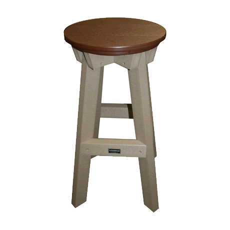 Bar Stool - Tudor Brown on Weathered Wood - Two Tone Color Combinations Are Available, Call for Info