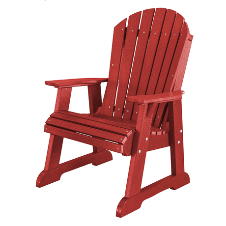 High Fan Back Chair - Cardinal Red