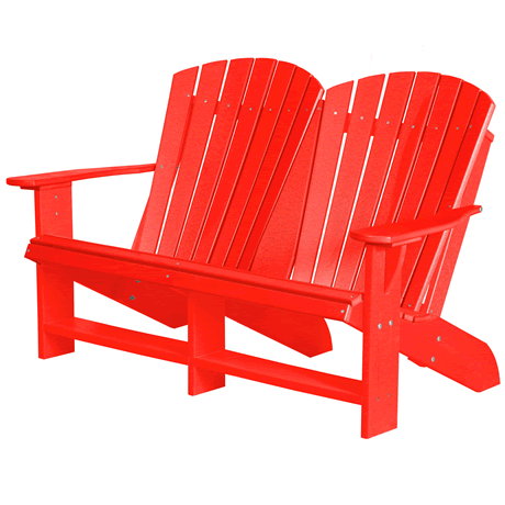 Double Adirondack - Bright Red