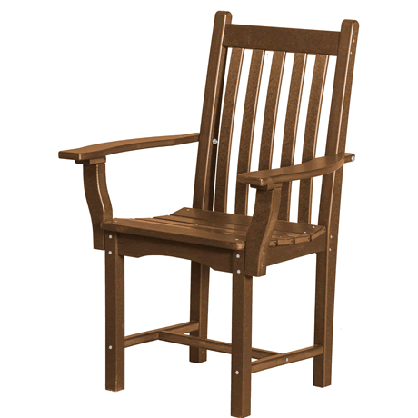Dining Height Side Chair with Arms - Tudor Brown