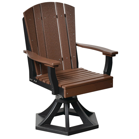 Swivel Rocker Dining Chair - Tudor Brown on Black - Two Tone Color Combinations Are Available, Call for Info
