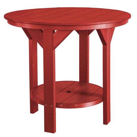 Counter Height Pub Table - Cardinal Red
