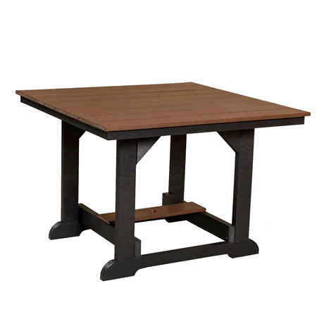 "44"" x 44"" Dining Height Table - Tudor Brown on Black - Two Tone Color Combinations Are Available, Call for Info"