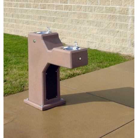 Concrete Dual Height Drinking Fountain