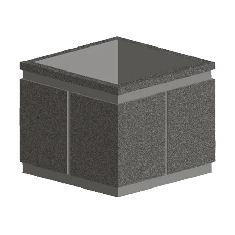 36 In. Square Concrete Planter-Planters