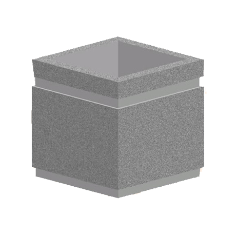 12 In. Rectangular Concrete Planter-Planters