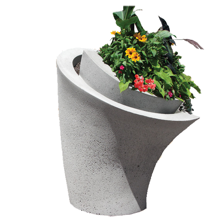 Calla Lilly Concrete Planter-Planters