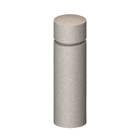 Cylindrical Concrete Bollard with Flat Top