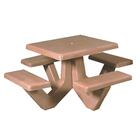 Concrete Square Top Picnic Tables