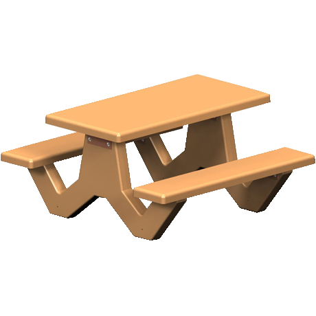 Concrete Rectangle Top Table with Y-Leg Base
