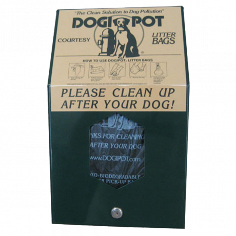 Aluminum Header Pak Dogipot Junior Bag Dispenser