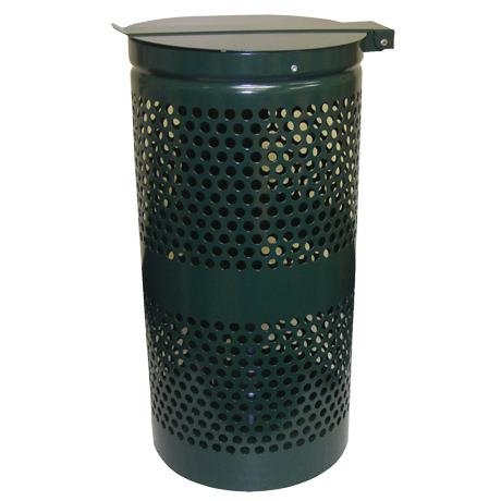 Dogipot10 Gallon Trash Receptacle, Steel-Receptacles