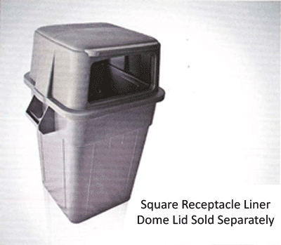 Square Trash Receptacle Liner