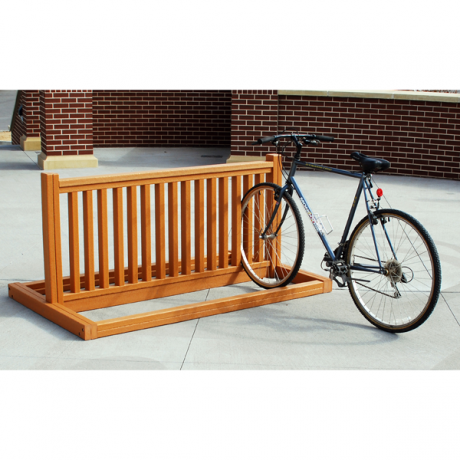 10 slot recycled plastic bike rack 220. Black Bedroom Furniture Sets. Home Design Ideas
