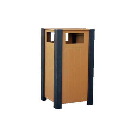 Enclosed 32 gallon trash receptacle