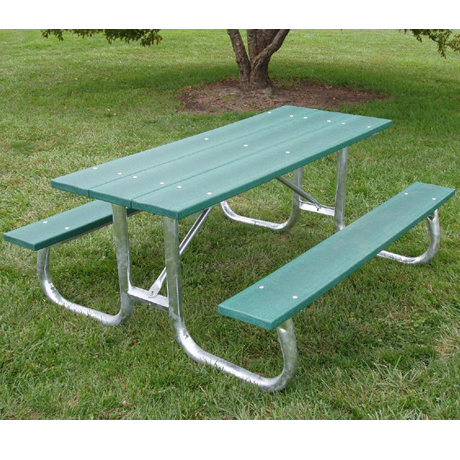 8' Bessemer Stype Recycled Plastic Picnic Table-320