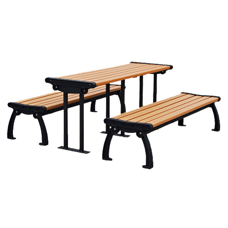 Heritage Style Recycled Plastic Picnic Table And Benches - Picnic table recycled plastic lumber