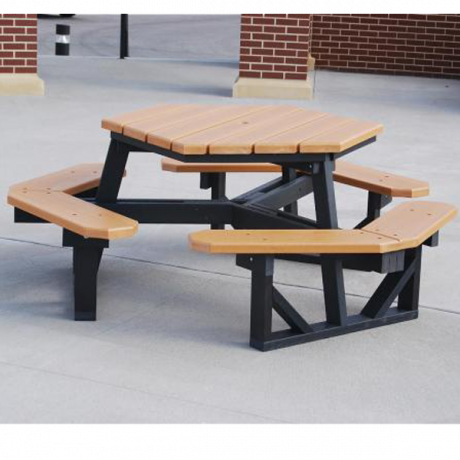Hexagonal with Resinwood Top-Picnic Tables