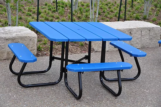 Recycled Plastic Picnic Table - Square Table - ADA