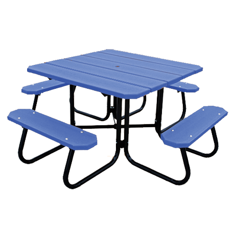 Recycled Plastic Picnic Tables Earn LEED Points Buy Green And Save - Recycled plastic hexagonal picnic table