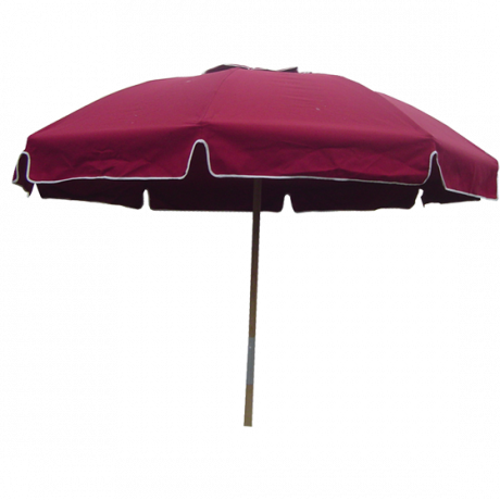 Fiberlite Patio Umbrella, Bal Harbor, Dome Shaped with Valence