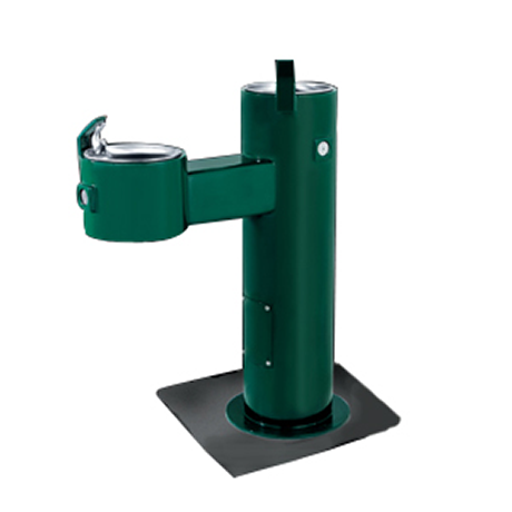 Dual Height Heavy Steel Drinking Fountain, Double Bubbler, Standard Plumbing