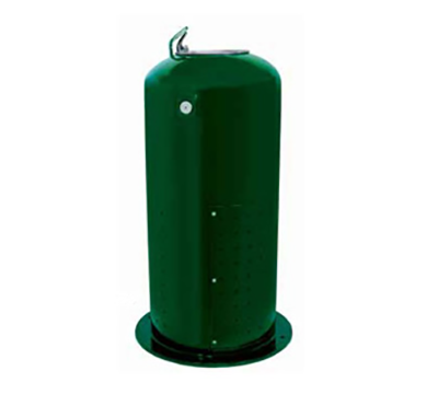 Refrigerated Pedestal Drinking Fountain, Single Bubbler centered on top, 245 lbs.