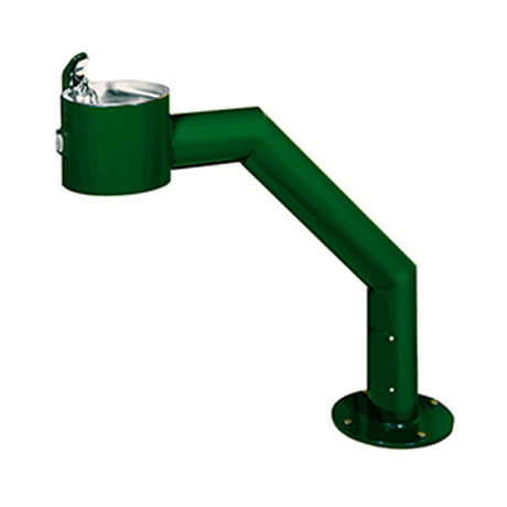 Barrier Free Contemporary Metal Pedestal Drinking Fountain with Standard Valve System