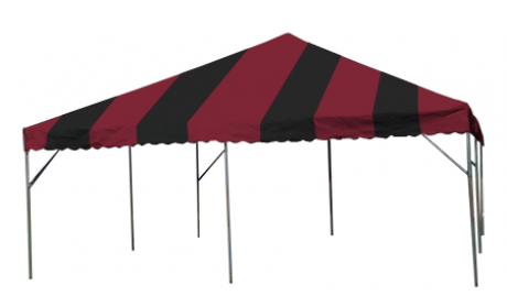 Festive Canopy Frame and Top, Includes Poles and Stakes-Shade Structures