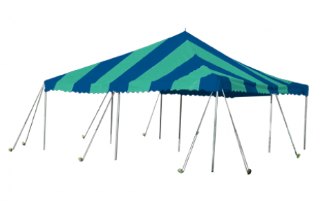 Party Canopy Frame and Top, Includes Poles and Stakes-Shade Structures