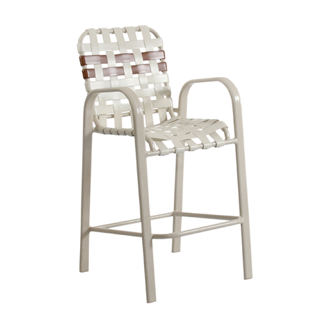 Key West Cross Weave Strap Barstool