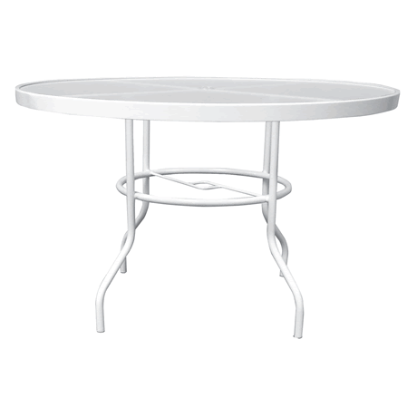 "42"" Round Acrylic Top Dining Table with Umbrella Hole"