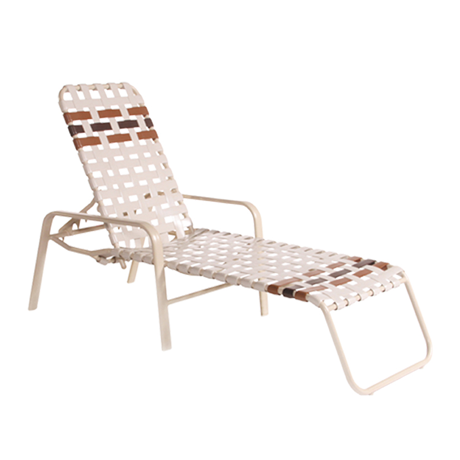 Bonaire Cross Strap Stackable Chaise Lounge