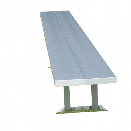 Aluminum Portable Double-Wide Bench Without Back-Benches and Glider Benches