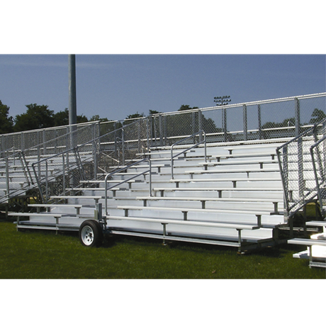 10 Row Transportable Preferred Bleacher with Chainlink Guardrail and Aluminum Frame-