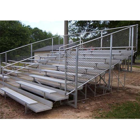 10 Row Tranportable Deluxe Bleacher With Chainlink Guardrail And Aluminum Frame
