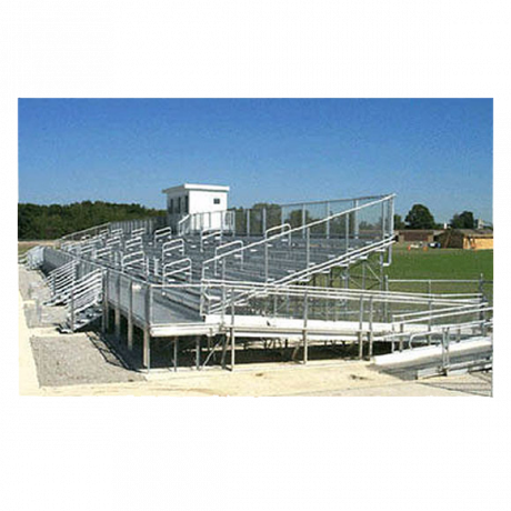 10 Row Elevated Bleachers (W/ Handicap Seating And Ramp)