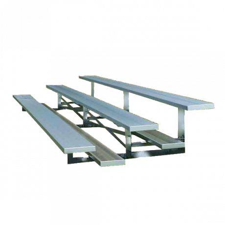3 Row Low Rise Standard Non-Elevated Bleachers with Aluminum Frame-