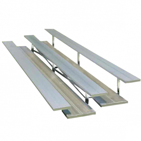 3 Row Low Rise Preferred Non-Elevated Bleacher with Aluminum Frame-