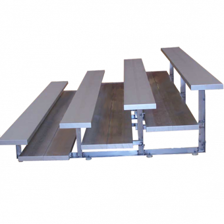4 Row Low Rise Preferred Non-Elevated Bleachers with Aluminum Frame-