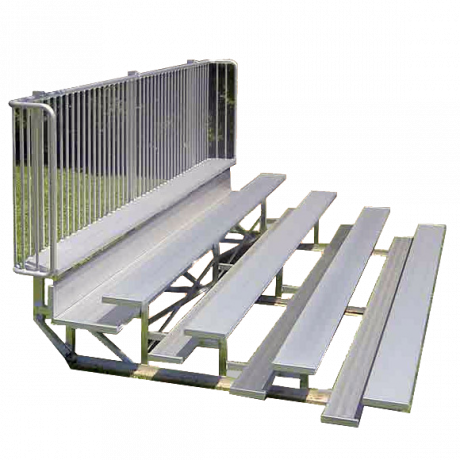 5 Row Low Rise Standard Non-Elevated Bleacher with Aluminum Frame-