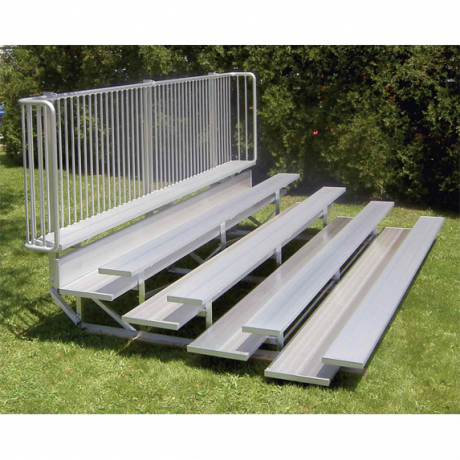 "5 Row ""Low Rise"" Preferred Non-Elevated Bleacher with Aluminum Frame-"