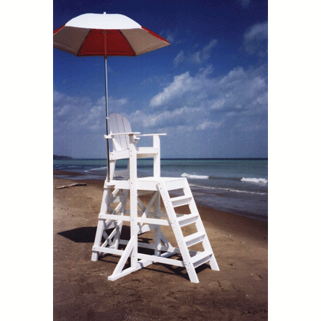 Tall Lifeguard Chair with Front Ladder-Lifeguard C