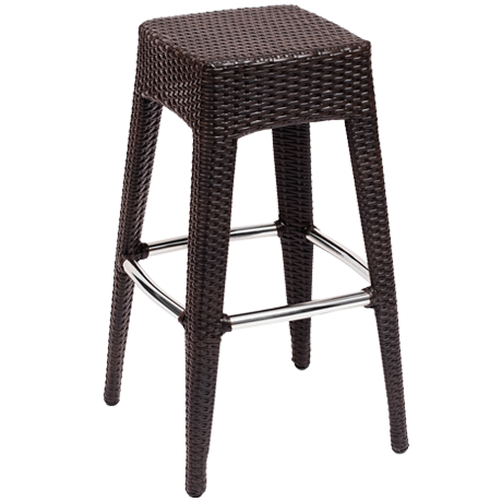 Monterey Backless Barstool Java Wicker