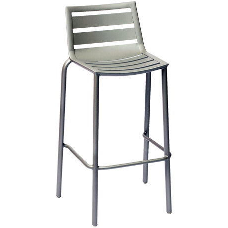 South Beach Aluminum Barstool Titanium Silver