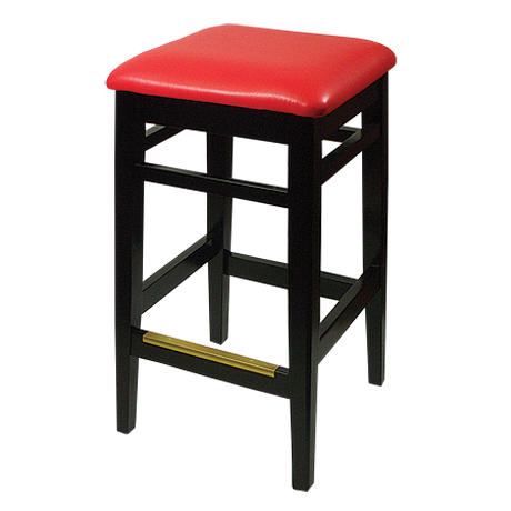 Trevor Backless Bar Chairs<br>With Vinyl Seat