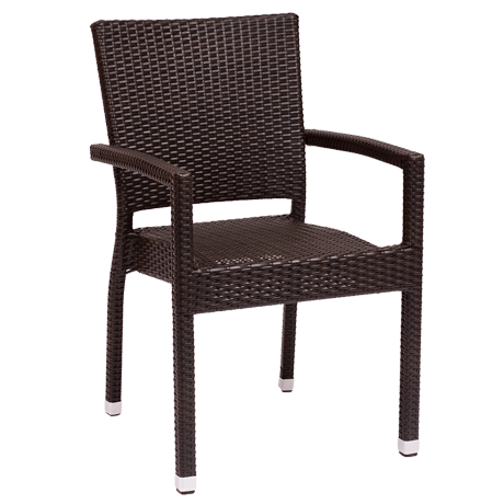 Monterey Arm Chair Java Wicker