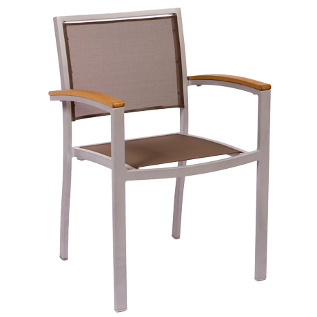 Delray Arm Chairs<br>With Batyline Seat