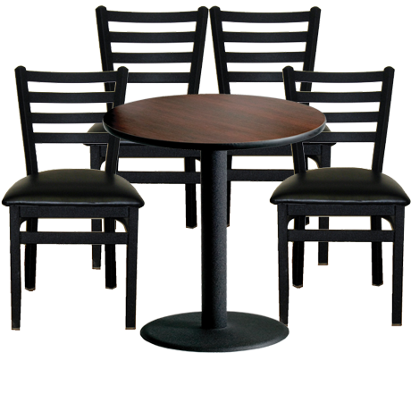 Indoor Restaurant Furniture Package<br>Metal or Wood Frame